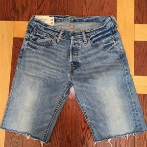 """Abercrombie & Fitch Cut-off Jean Shorts (30"""")"""